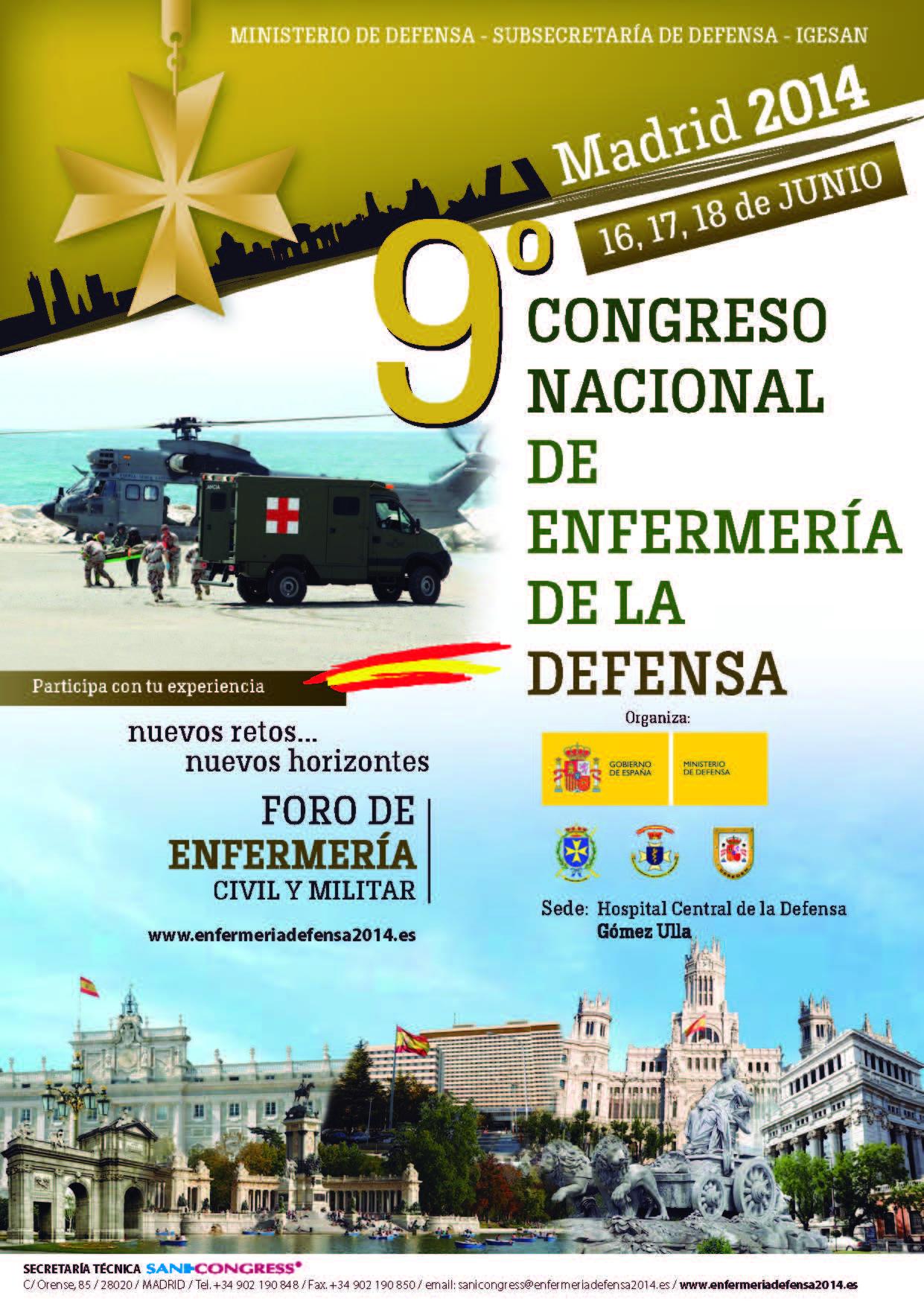 cartel congreso defensa para apoyo