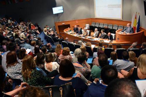 Debate electoral en la sede del Consejo General de Enfermería. Imagen: Ana Muñoz