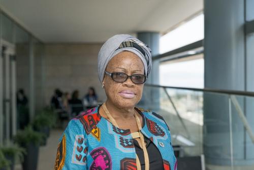 Julia Duncan-Cassell, ministra de Género, Infancia y Protección Social de Liberia. Imagen: José Cuevas
