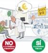 """La Mesa Enfermera lanza un folleto informativo bajo el lema """"la atención sanitaria NO es un negocio"""""""